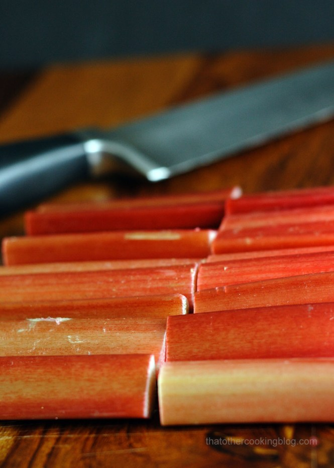 Rhubarb Tarts : Creme Patisserie : Vanilla