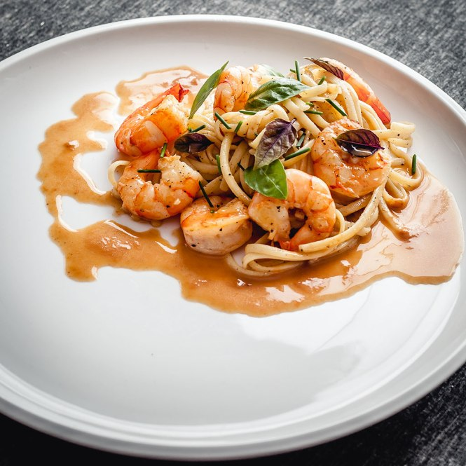 Shrimp Linguine : Pernod, Garlic and Lime : Shrimp Velouté @ thatothercookingblog.com by Paul Palop