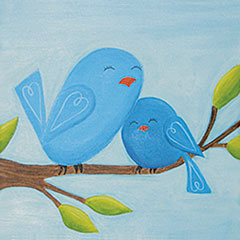 Mom & Me Canvas Class 4/22 or 5/5 2-4 pm.