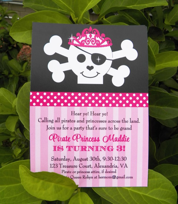 20 Princess And Pirate Birthday Party Invitations Pictures And