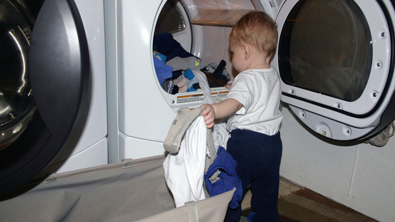 10 Month Old Doing Laundry