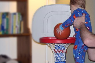 Little Tikes Basketball Set Review and Giveaway