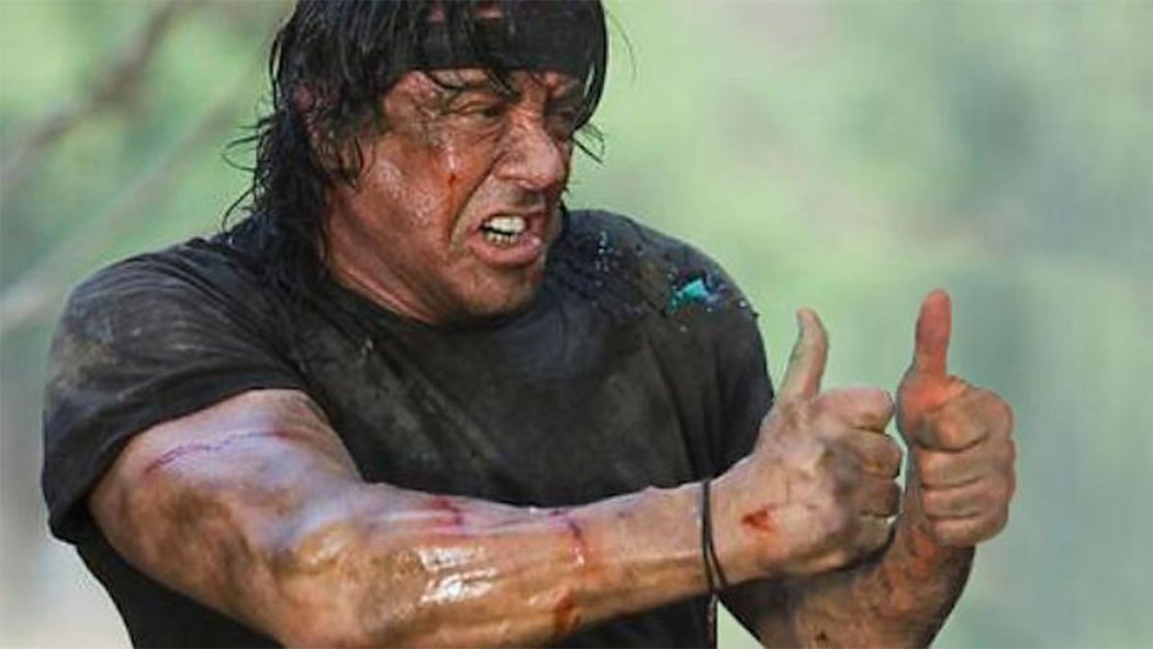 Sylvester Stallone from Thumbs and Ammo