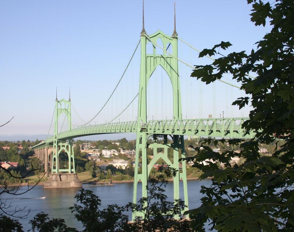 St. Johns Bridge in N Portland