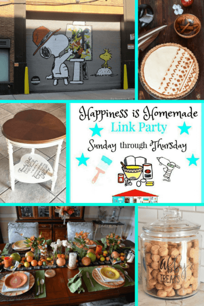 collage of features for Happiness is Homemade