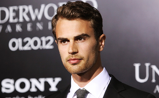 Theo James lips