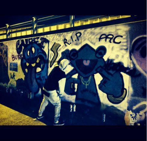 Justin Bieber graffiti,