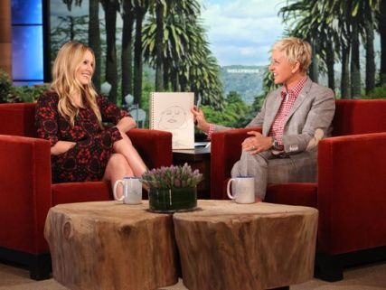 ellen draws baby lincoln - kristen bell