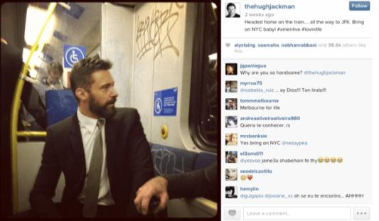 Hugh Jackman, Social Media, Twitter, Instagram