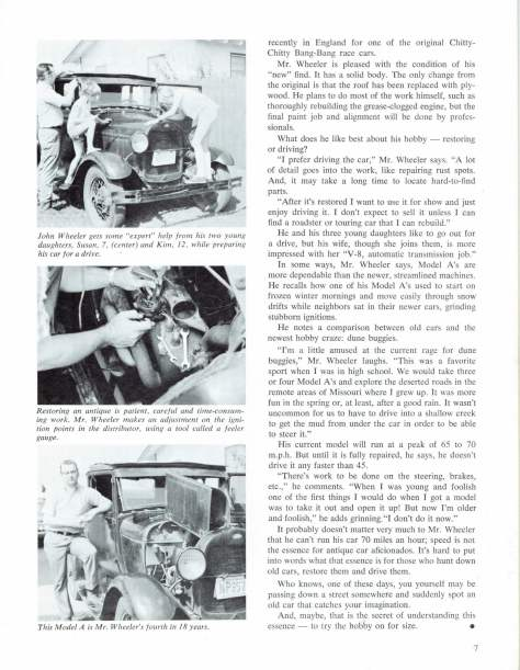 Continental Insurance Company Bulletin Dec. 1969 featuring employees with Model A Fords pg 2