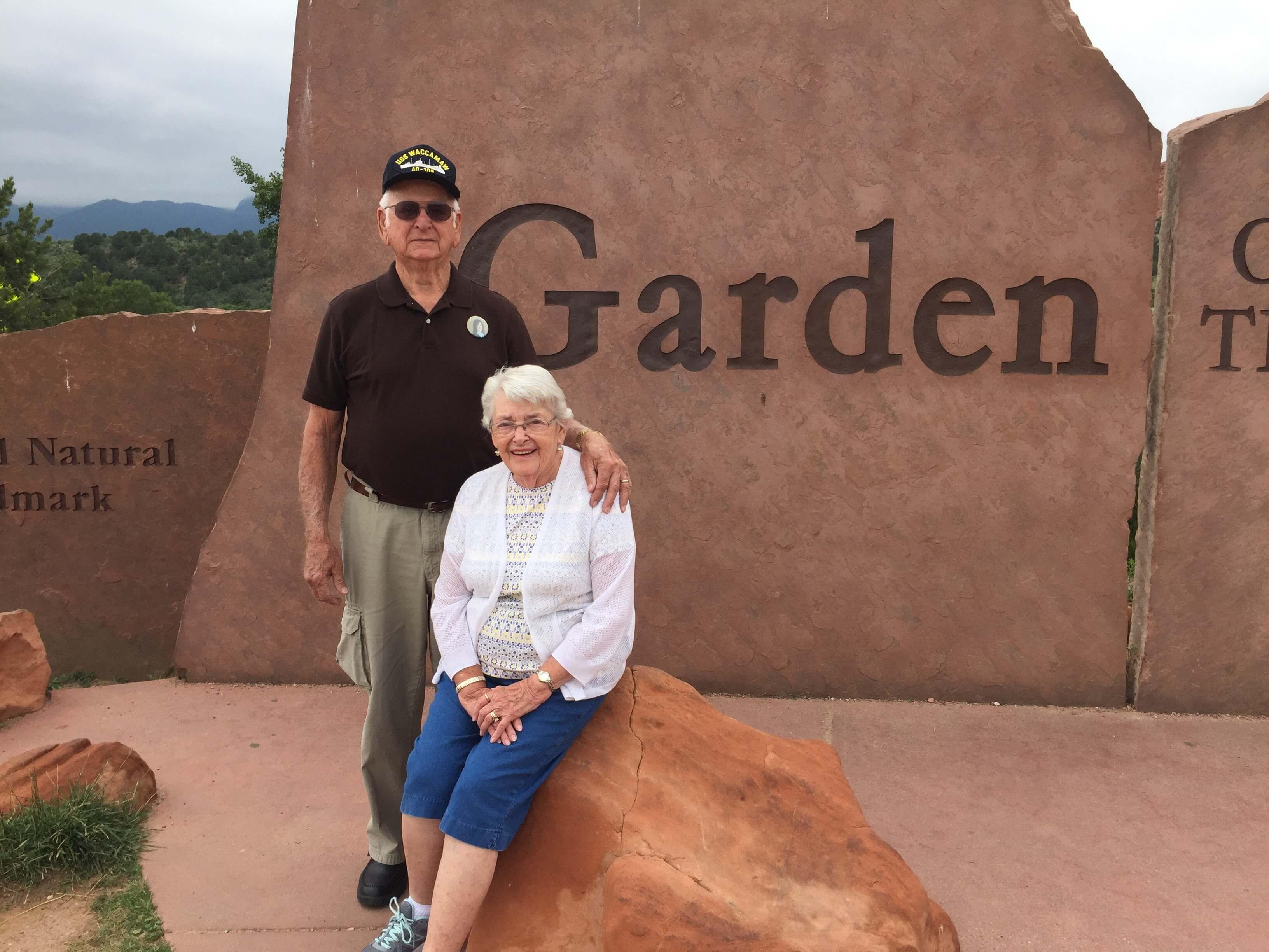 Mom, Dad, Garden of the Gods, Colorado, 2017