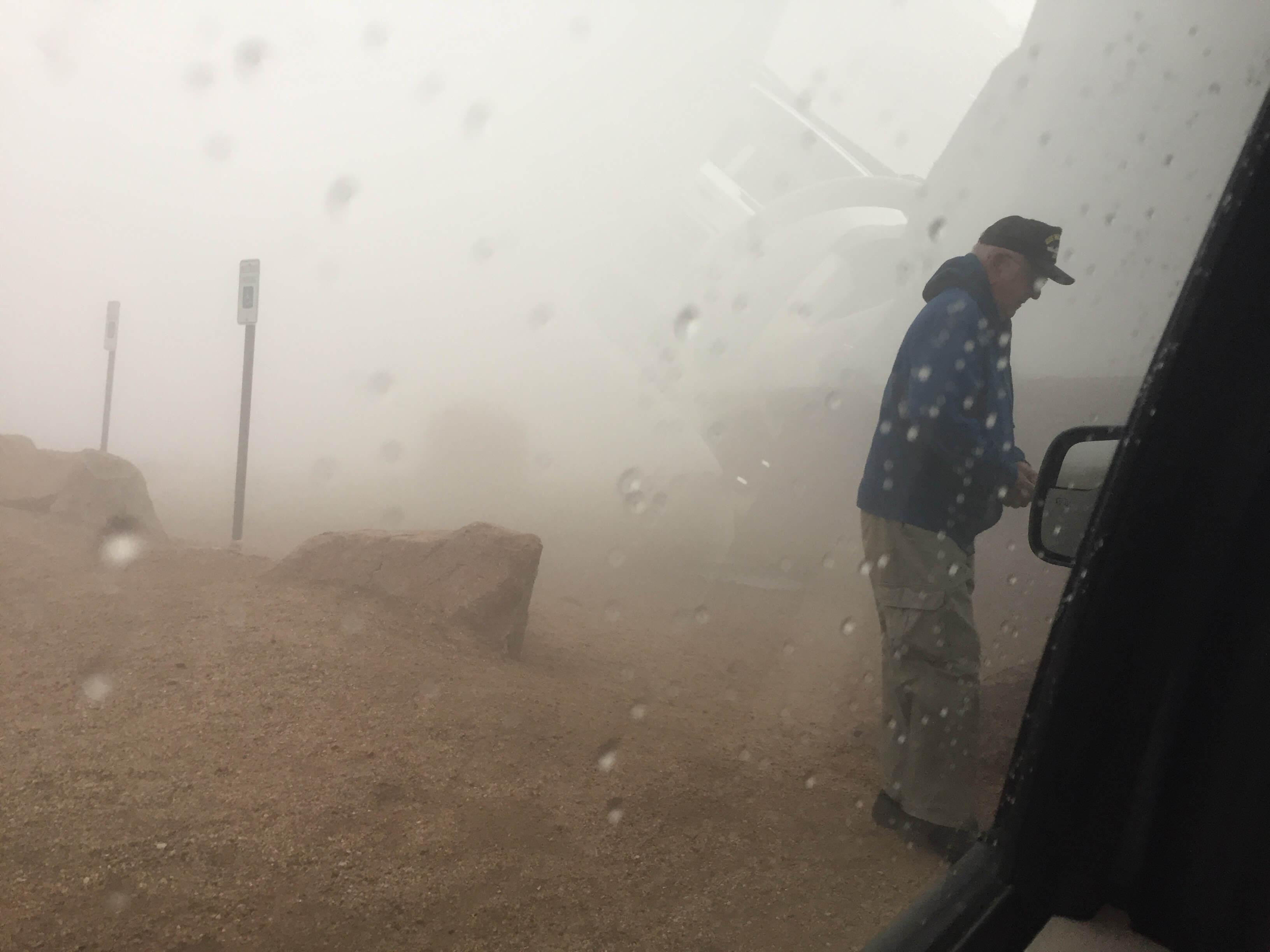 Snowy, 39 degrees, Pikes Peak, Colorado, 2017