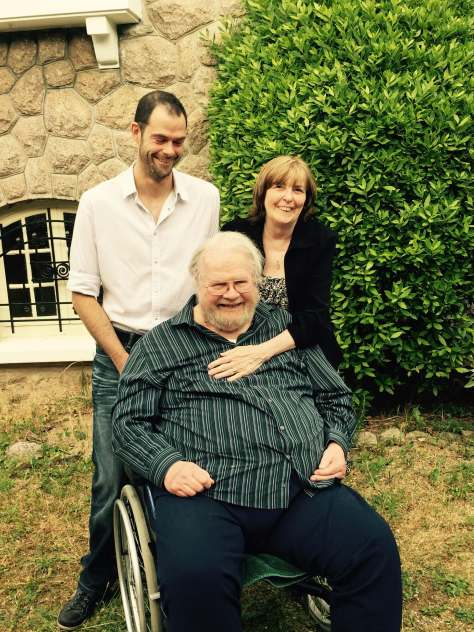 Ron, Karen, Dreux, at home in France, 2015