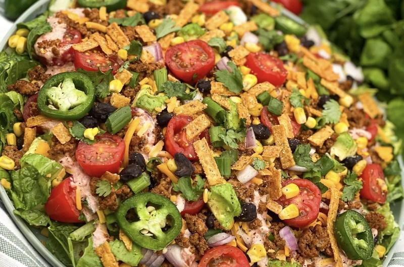 An Unbelievably Healthy Taco Salad