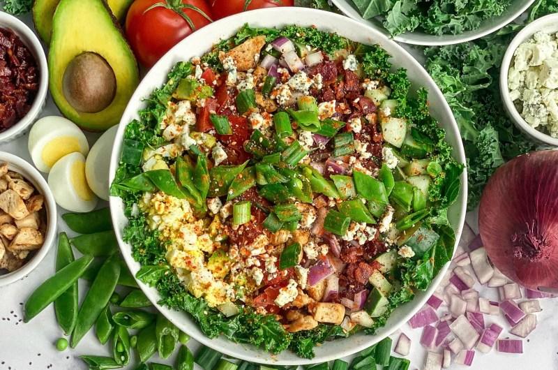 A Hearty Kale Cobb Salad