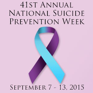 Suicide Prevention Week & Day 2015 (1/3)