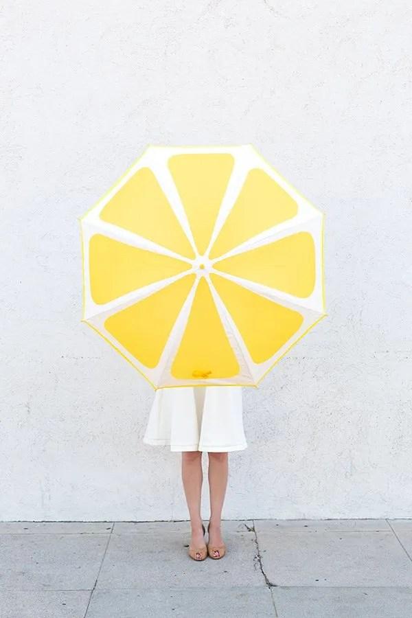 DIY lemon umbrella by Studio DIY