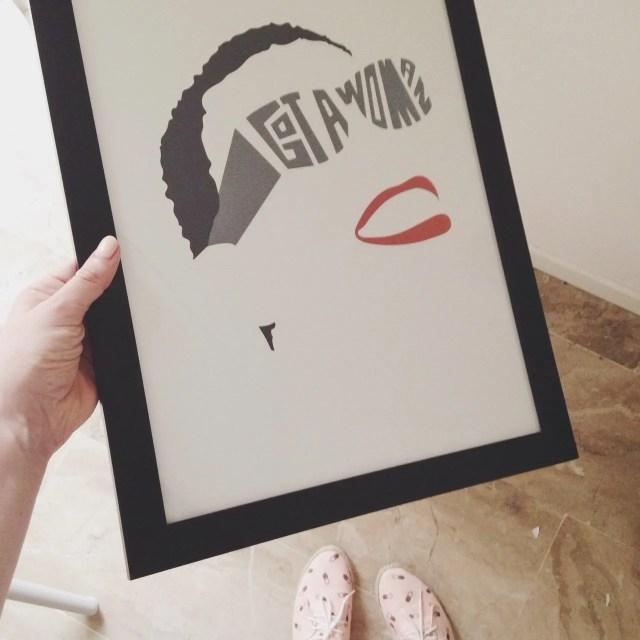 ingridesign i got a woman print