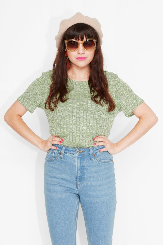 Rosalita green top Monki