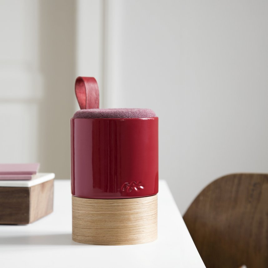 fugato_burgundy_danish_ceramic_speaker