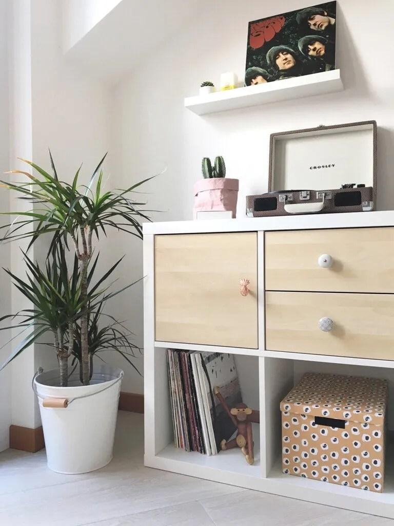DIY  HOW I CUSTOMIZED MY IKEA KALLAX SHELVING UNIT WITH