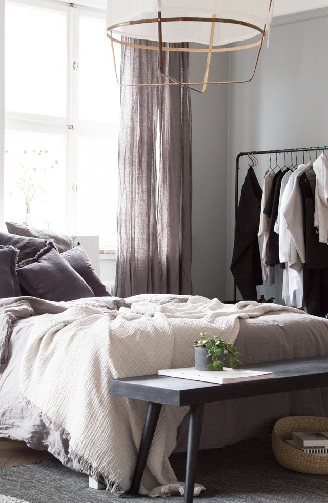 This beautiful and calm bedroom belongs to interior designer Gen and her  Danish husband Kasper  and was photographed by My Scandinavian Home blog. BEAUTIFUL BEDROOM WITH DANISH DESIGN   thatscandinavianfeeling com