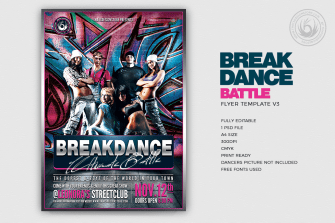 Breakdance Battle Flyer Template V3
