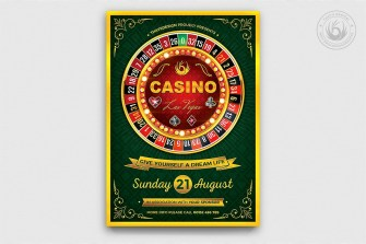 Casino Flyer Template V2