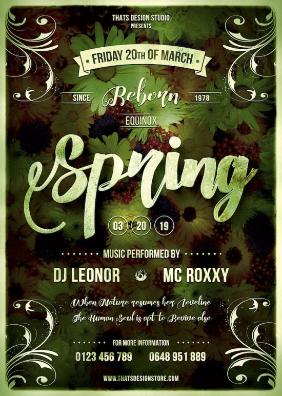 Spring Equinox Flyer Template