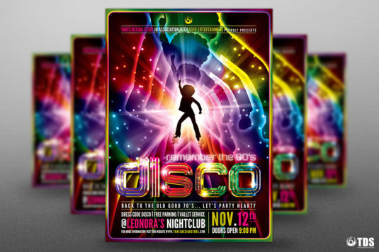 Remember Disco Flyer Template Psd Design for photoshop