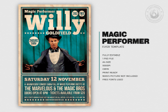 Magic Performer Flyer Template