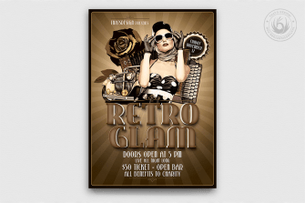 Retro Flyer Templates for Photoshop