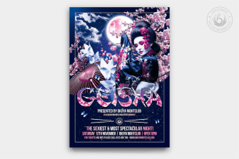 Geisha Party Flyer Template V2