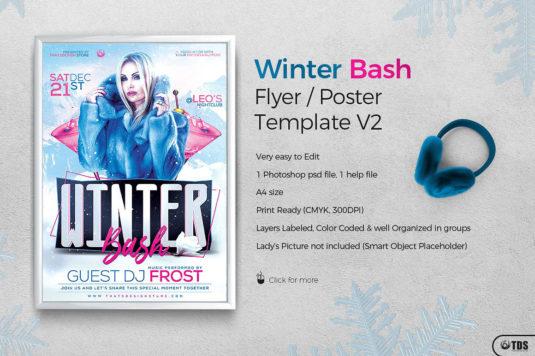 Winter Bash Flyer Template Psd V.2