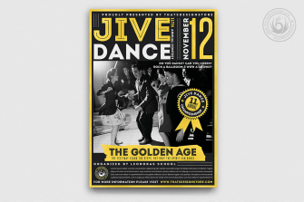 Jive Dance Flyer Template, Rock dance psd