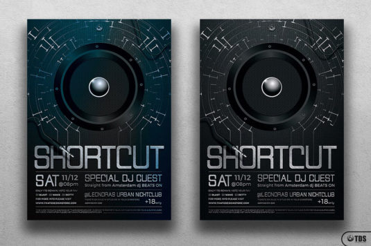 Shortcut Flyer Template Club psd Design