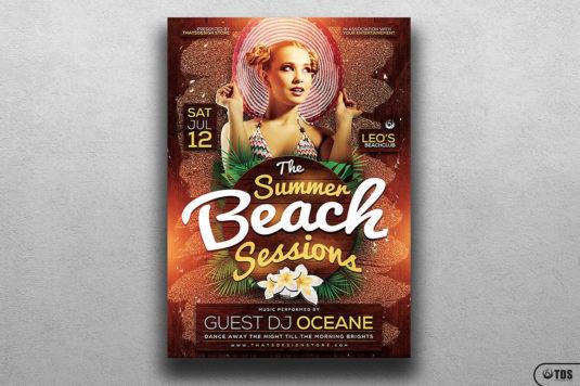 Summer Beach Flyer Template Psd V.3