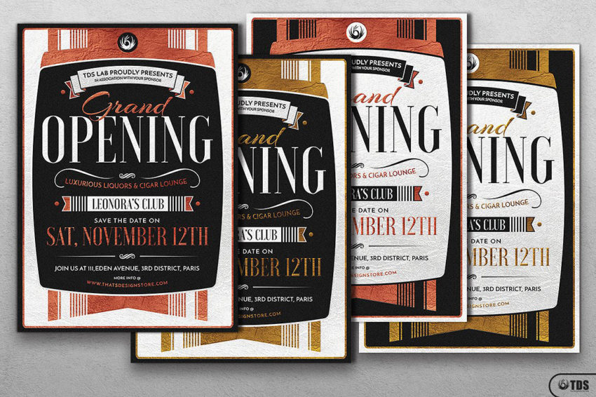 grand opening flyer template tds psd flyer templates. Black Bedroom Furniture Sets. Home Design Ideas