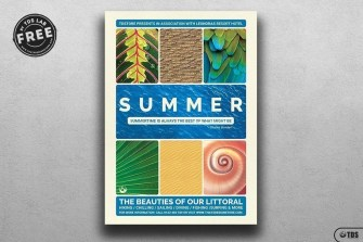 Free Summer vacation Flyer Template psd