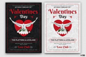 Valentine's Day Flyer Template psd download V13