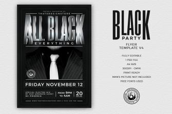 Black Party Flyer Template V4v