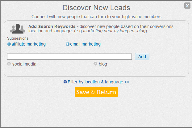 Discover new leads in commun.it Twitter community manager