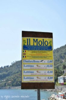 price list of public beach Santa Margherita Ligure