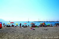 public beach santa margherit ligure liguria