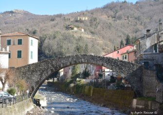 Medieval bridge in Varese Ligure