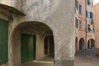 arcades of borgo rotondo in Varese Ligure