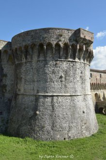details of the fortress of Sarzana