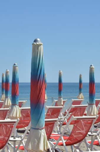 beach Albenga umbrella