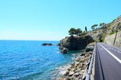 cycle lane and sea Levanto