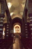 interiors of the church in Levanto